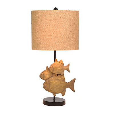 Triple Fish Table Lamp