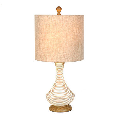 Hand Spun Natural Table Lamp