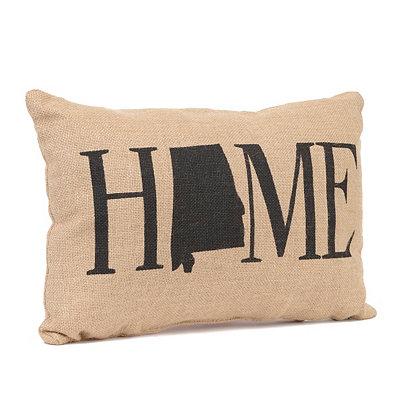Alabama Home Burlap Pillow