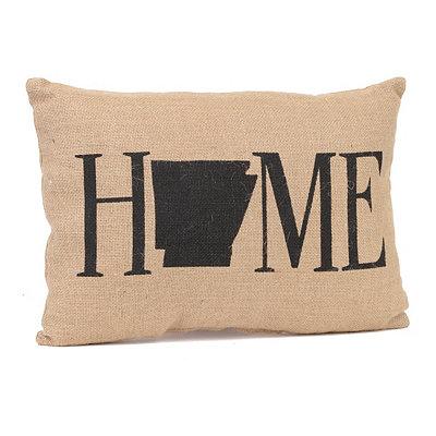 Arkansas Home Burlap Pillow