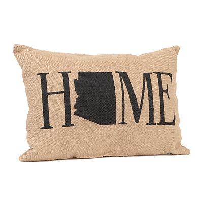 Arizona Home Burlap Pillow