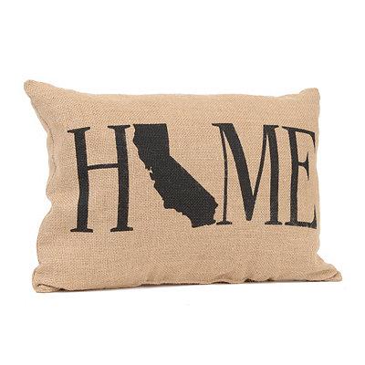 California Home Burlap Pillow