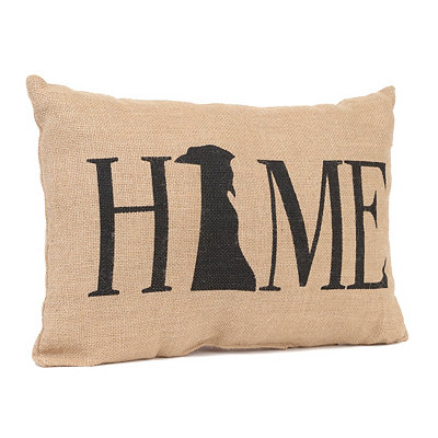 Delaware Home Burlap Pillow