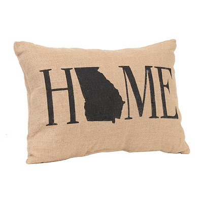 Georgia Home Burlap Pillow