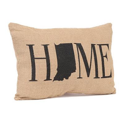 Indiana Home Burlap Pillow