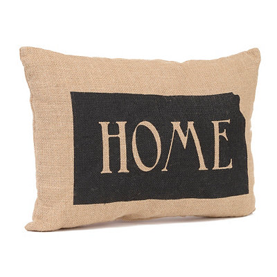 Kansas Home Burlap Pillow