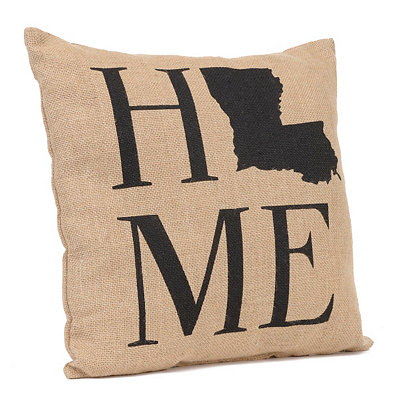 Louisiana Home Burlap Pillow