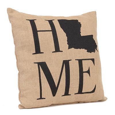 Louisiana Home Burlap Pillow