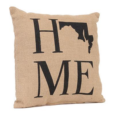 Maryland Home Burlap Pillow
