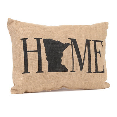 Minnesota Home Burlap Pillow
