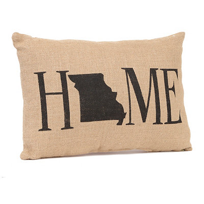 Missouri Home Burlap Pillow