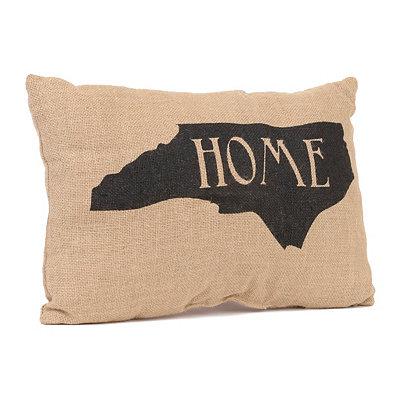 North Carolina Home Burlap Pillow