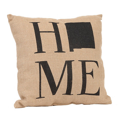 New Mexico Home Burlap Pillow