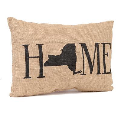 New York Home Burlap Pillow
