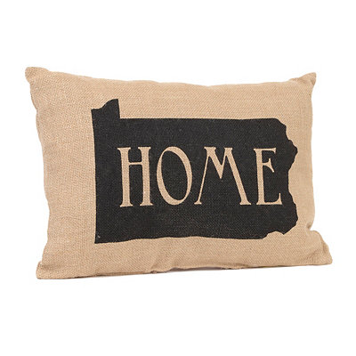 Pennsylvania Home Burlap Pillow