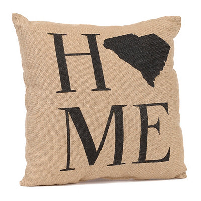 South Carolina Home Burlap Pillow
