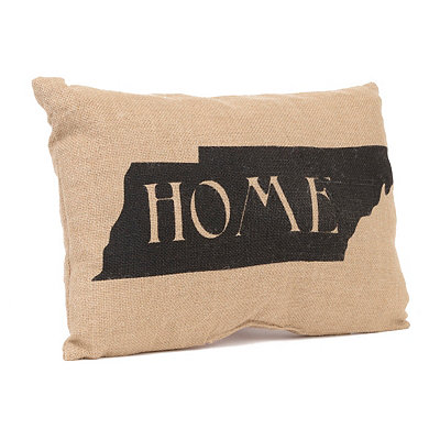Tennessee Home Burlap Pillow
