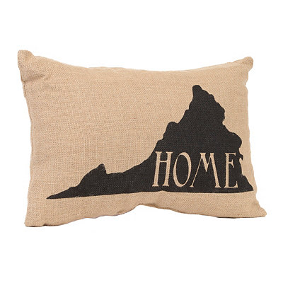 Virginia Home Burlap Pillow