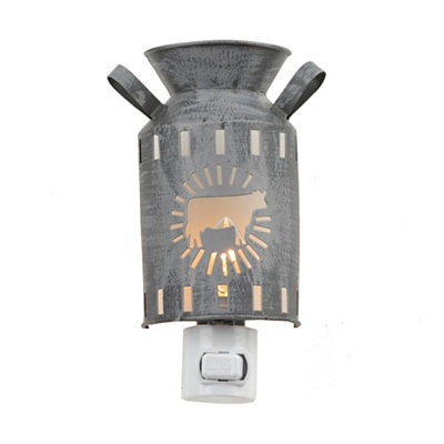 Gray Cow Milk Can Night Light