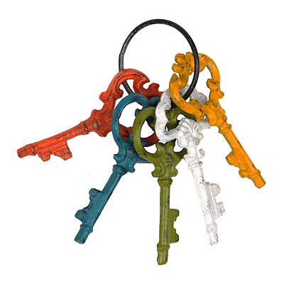 Multicolor Cast Iron Keys