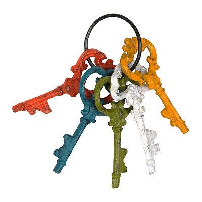 Multicolor Cast Iron Keys