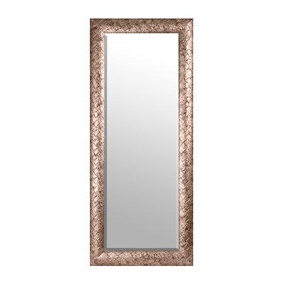 Antique Silver Woven Framed Mirror, 33x79