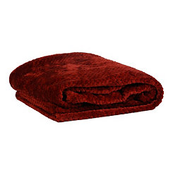 Heavenly Red Luxe Bubble Throw Blanket
