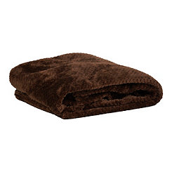 Heavenly Chocolate Luxe Bubble Throw Blanket