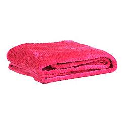 Heavenly Hot Pink Luxe Bubble Throw Blanket