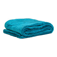 Heavenly Turquoise Luxe Bubble Throw Blanket