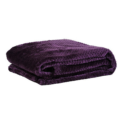 Heavenly Plum Luxe Bubble Throw Blanket