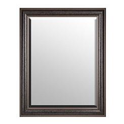 Dark Antique Silver Framed Mirror, 37x47 in.