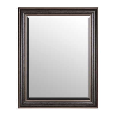 Dark Antique Silver Framed Mirror, 37x47 in.