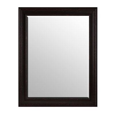 Distressed Coffee Bean Framed Mirror, 37x47 in.