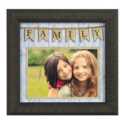 Family Pennant Banner Picture Frame, 5x7