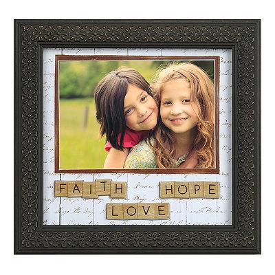 Faith, Love, Hope Tiles Picture Frame, 5x7