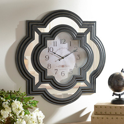 Black Calcutta Wall Clock
