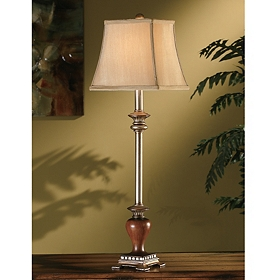Willis Silver Wood Buffet Lamp