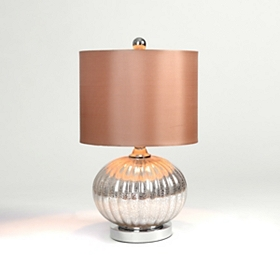 Mercury Glass Comet Table Lamp