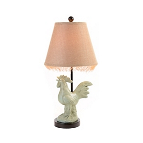 Rooster Fringe Table Lamp