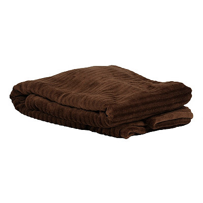 Chocolate Ribbed Throw Blanket