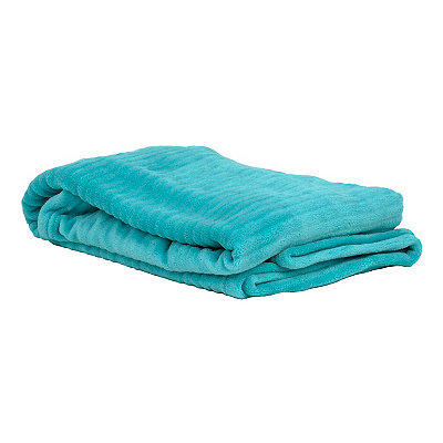 Turquoise Ribbed Throw Blanket