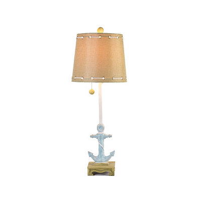 Turquoise Anchor Buffet Lamp