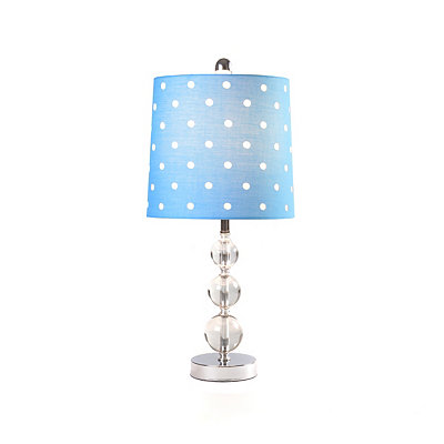 Blue Polka Dot Orb Table Lamp