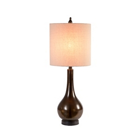 Mocha Drop Table Lamp