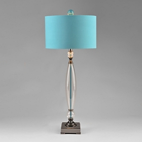 Turquoise Taper Table Lamp