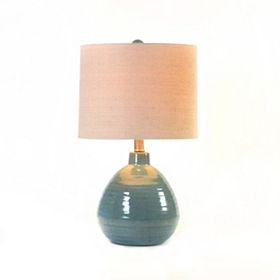 Turquoise Waves Table Lamp