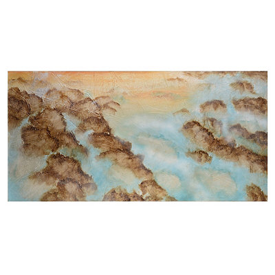 Clouds Meet the Earth Canvas Art Print