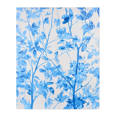 Blue Willow in the Wind Canvas Art Print