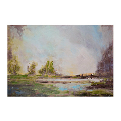 Dusk at Lake Lure Canvas Art Print
